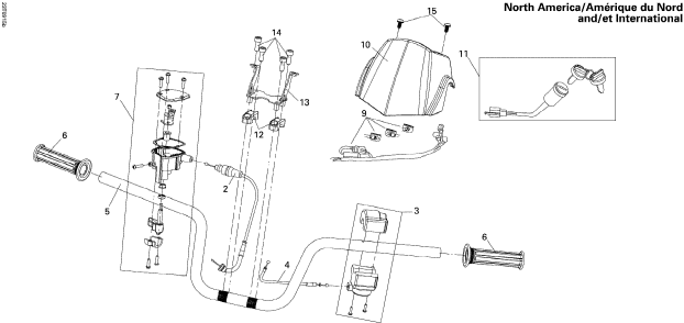2013 Can-Am DS 250 NA, CE & INT Handlebar NA INT Parts