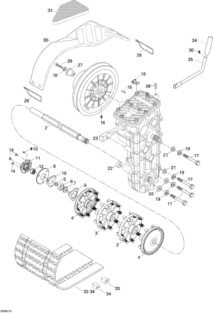 2004 Expedition 4 TEC Track Assembly Includes Items