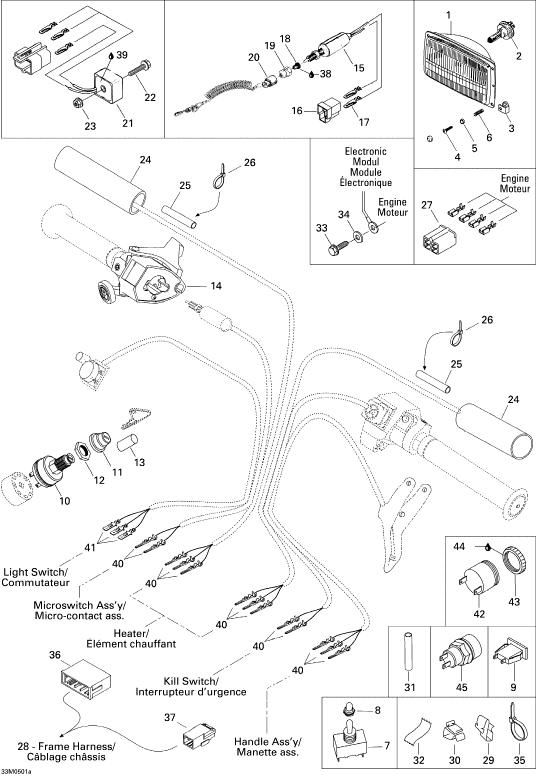 2004 ski doo tundra r voltage regulator part number 515163800