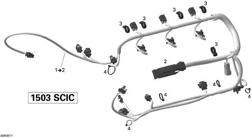 2008 sea doo rxt 215 ecm connector