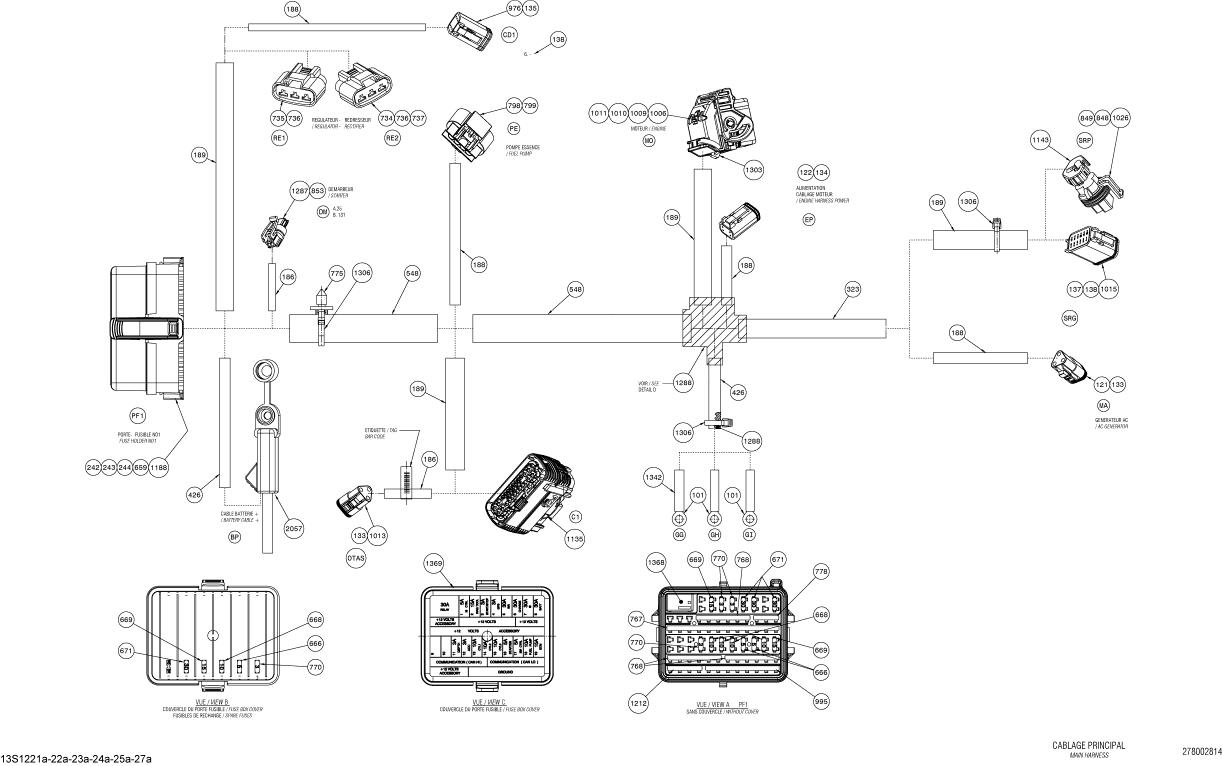 2012 GTI SE 155 (30CA, 30CB) Fuse Box Assembly