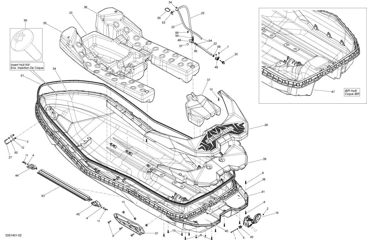2014 Sea Doo SPARK ACE 900 (2up) Rear Deck Extension Float. IBR ...